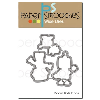 Paper Smooches BOOM BOTS ICONS Wise Dies DED289*