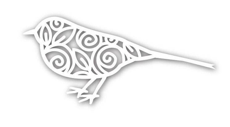 Simon Says Stamp BIRD OF ROSES Wafer Die SSSD111541 zoom image