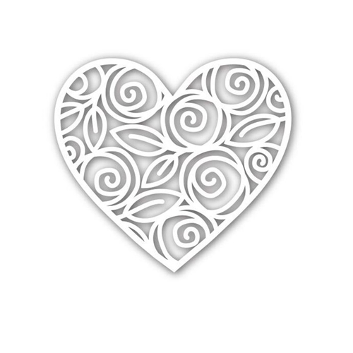 Simon Says Stamp HEART OF ROSES Wafer Die SSSD111542 Preview Image