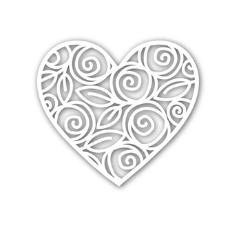Simon Says Stamp HEART OF ROSES Wafer Die SSSD111542