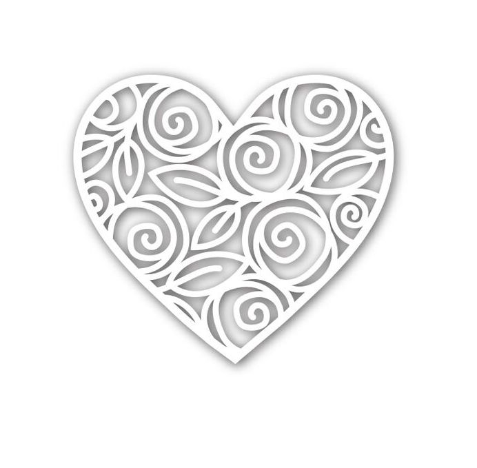 Simon Says Stamp HEART OF ROSES Wafer Die SSSD111542 zoom image