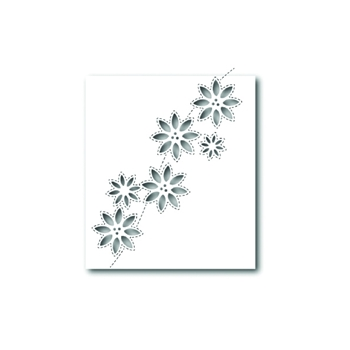 Simon Says Stamp SIMPLE POINSETTIA CUTOUTS Wafer Die S327