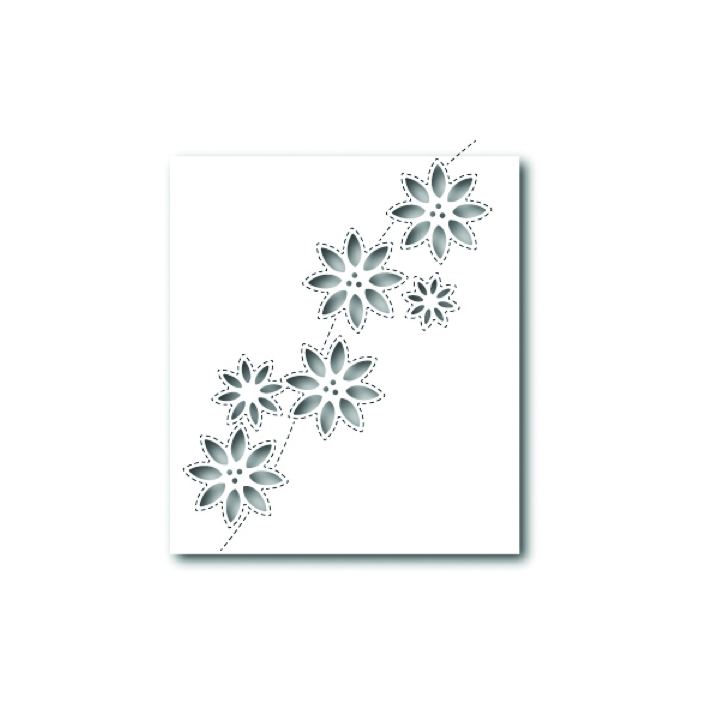 Simon Says Stamp SIMPLE POINSETTIA CUTOUTS Wafer Die S327 zoom image