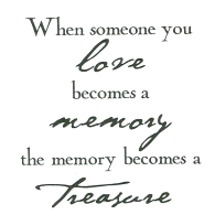 Verses LOVE BECOMES A MEMORY Cling Stamp SY0519ECL Preview Image
