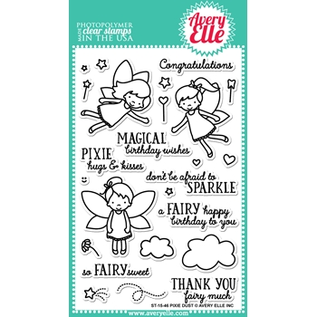 Avery Elle Clear Stamps PIXIE DUST Set 023499