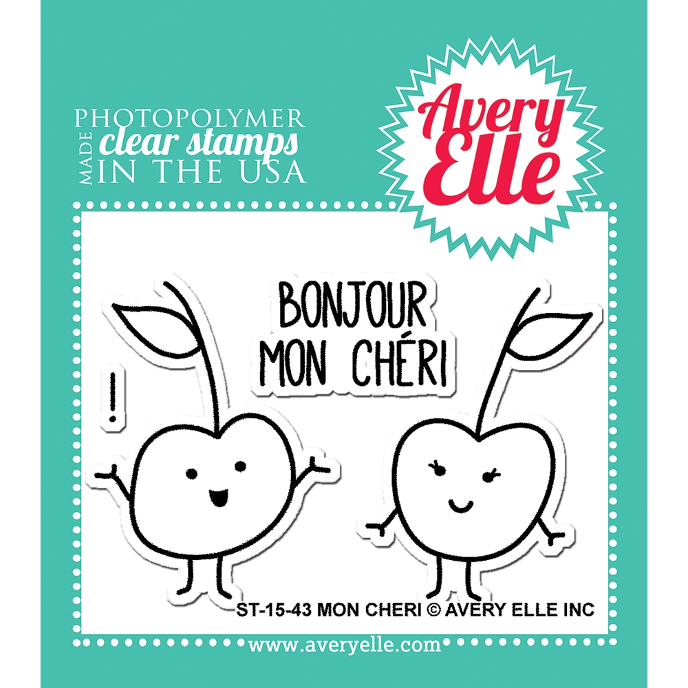 Avery Elle Clear Stamps MON CHERI Set ST-15-43 zoom image