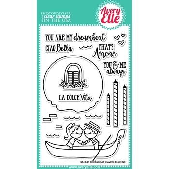 Avery Elle Clear Stamps DREAMBOAT Set 023390