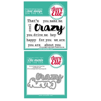 Avery Elle Clear Stamp and Die SETSSCAE Simply Said Crazy SET