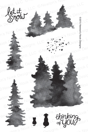 Newton's Nook Designs WHISPERING PINES Clear Stamp Set 20151201 zoom image