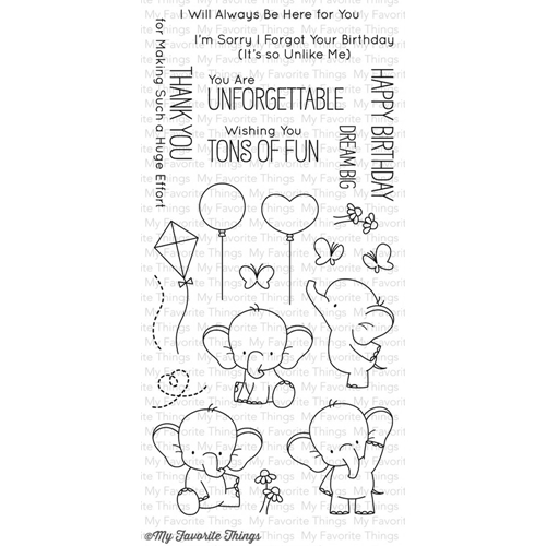 My Favorite Things ADORABLE ELEPHANTS Clear Stamps BB28 Preview Image