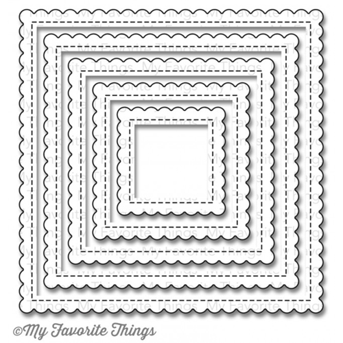 My Favorite Things STITCHED MINI SCALLOP SQUARE STAX Die-Namics MFT806 Preview Image