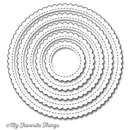 My Favorite Things STITCHED MINI SCALLOP CIRCLE STAX Die-Namics MFT790 Preview Image
