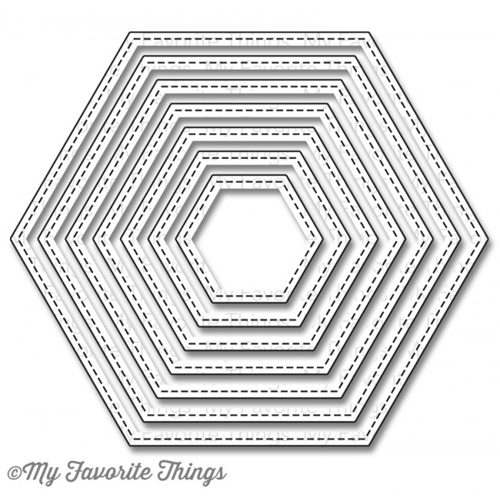 My Favorite Things STITCHED HEXAGON STAX Die-Namics MFT804 Preview Image