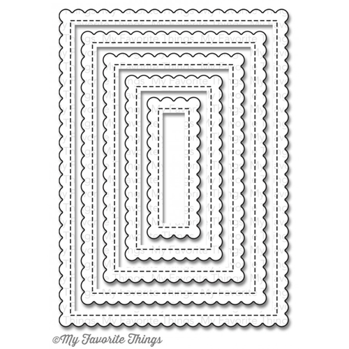 My Favorite Things STITCHED MINI SCALLOP RECTANGLE STAX Die-Namics MFT791 Preview Image
