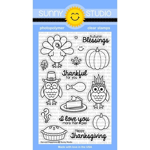 Sunny Studio HARVEST HAPPINESS Clear Stamp Set SSSCL-116 Preview Image