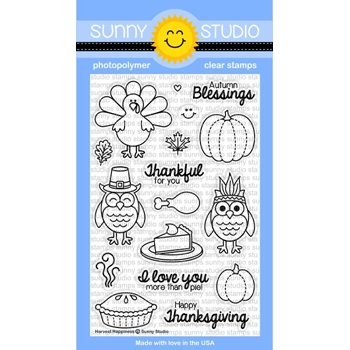 Sunny Studio HARVEST HAPPINESS Clear Stamp Set SSSCL-116
