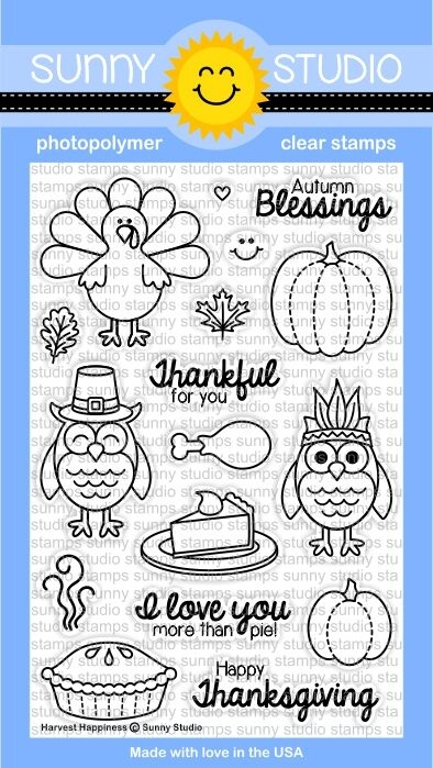 Sunny Studio HARVEST HAPPINESS Clear Stamp Set SSSCL-116 zoom image