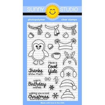 Sunny Studio BUNDLED UP Clear Stamp Set SSSCL-117