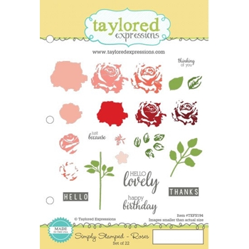 Taylored Expressions SIMPLY STAMPED ROSES Cling Stamp Set TEFS194