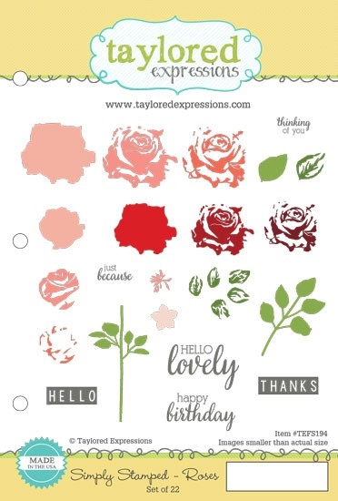 Taylored Expressions SIMPLY STAMPED ROSES Cling Stamp Set TEFS194 zoom image