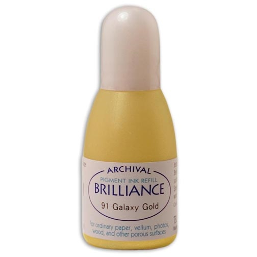 Tsukineko Brilliance GALAXY GOLD REFILL Archival Ink 550919 zoom image