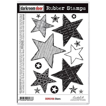 Darkroom Door Cling Stamp STARS Rubber UM DDRS156