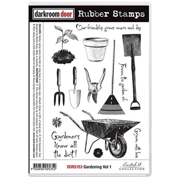 Darkroom Door Cling Stamp GARDENING VOLUME 1 Rubber UM DDRS153