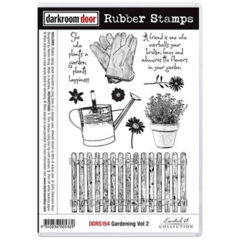 Darkroom Door Cling Stamp GARDENING VOLUME 2 Rubber UM DDRS154