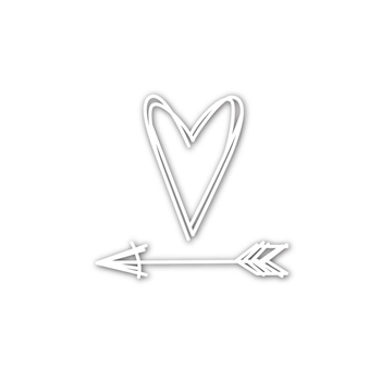 Simon Says Stamp SCRIBBLE HEART AND ARROW Wafer Dies sssd111539 You Have My Heart
