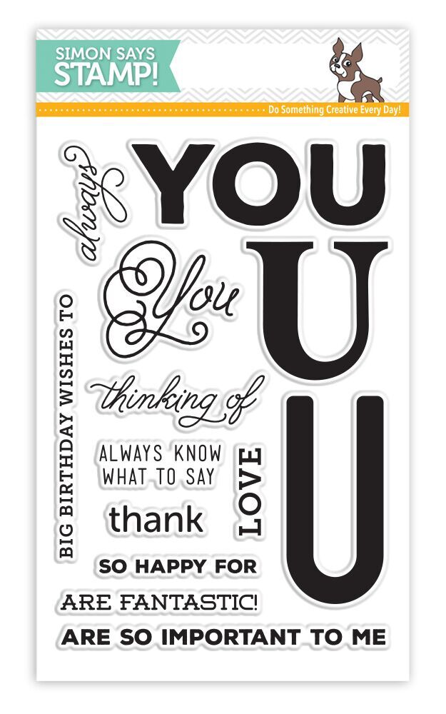 Simon Says Clear Stamps BIG U WORDS sss101587