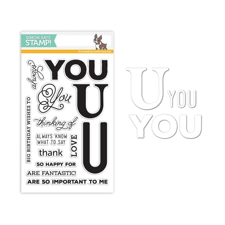 Simon Says Stamps and Die Set BIG U SetBU242 You Have My Heart
