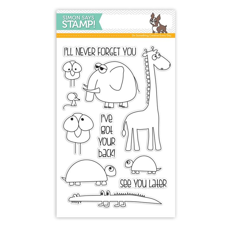 Simon Says Clear Stamps STACKING ANIMALS sss101584 You Have My Heart