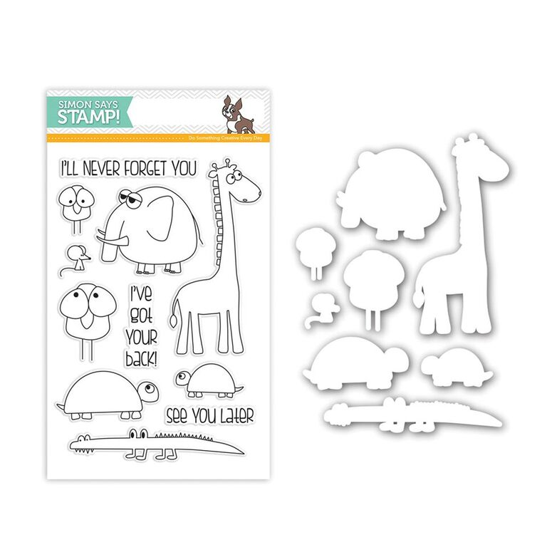 Simon Says Stamps and Dies STACKING ANIMALS SetSA243 You Have My Heart
