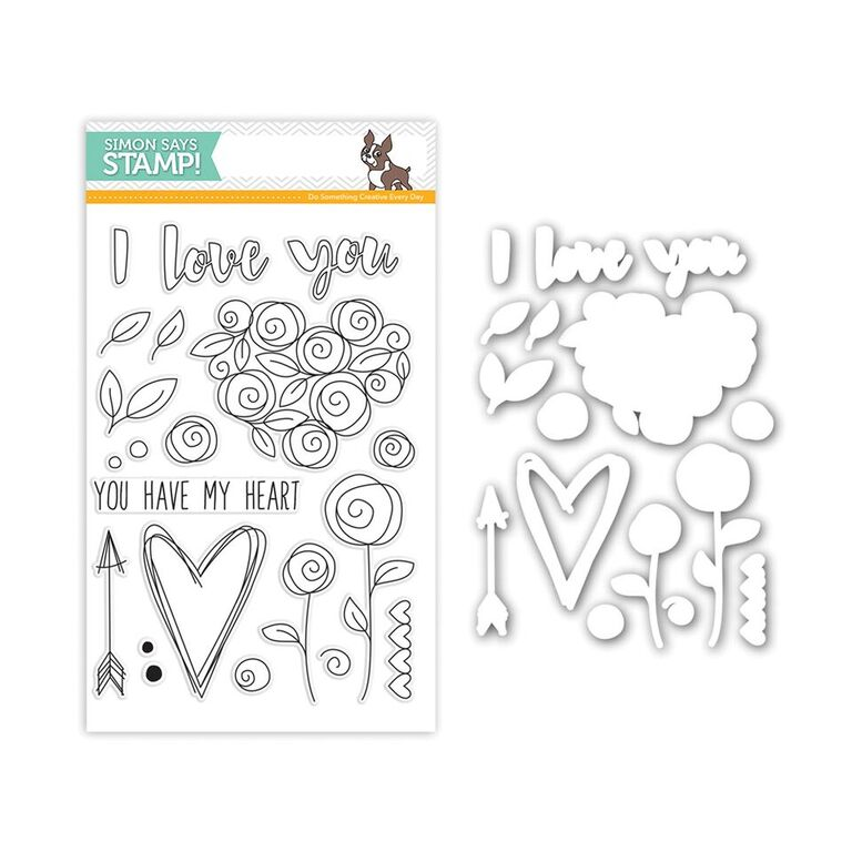 Simon Says Stamps and Dies ROSES FOR YOU SetRY241 You Have My Heart Preview Image