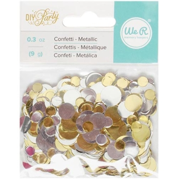 We R Memory Keepers DIY PARTY METALLIC CONFETTI 660214