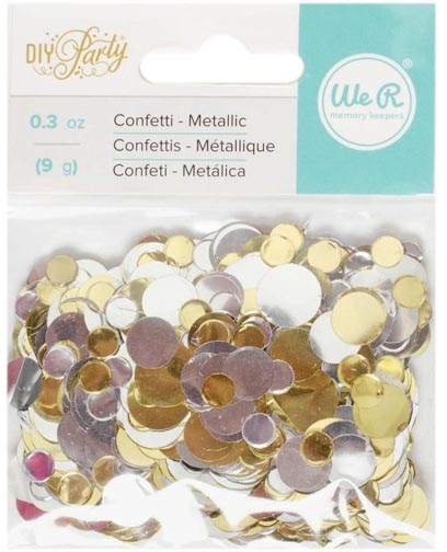 We R Memory Keepers DIY PARTY METALLIC CONFETTI 660214 zoom image
