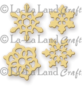 La-La Land Crafts SMALL SNOWFLAKES Die Set 8141