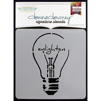 Donna Downey ENLIGHTEN Signature Stencil DD089