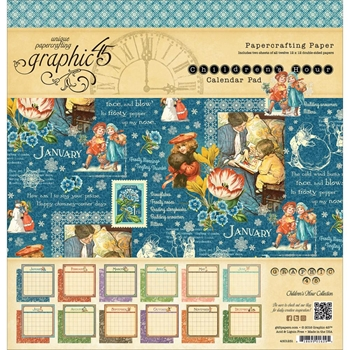 Graphic 45 CHILDREN'S HOUR 12 x 12 Calendar Paper Pad 4501251