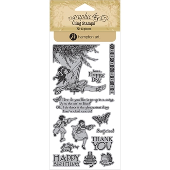 Graphic 45 CHILDREN'S HOUR 2 Cling Stamps ICO351