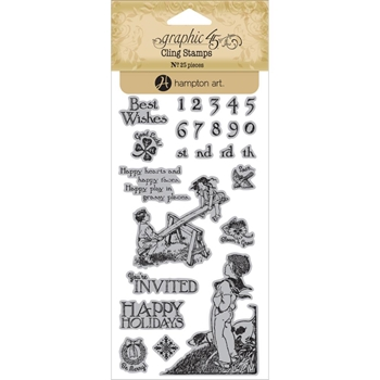 Graphic 45 CHILDREN'S HOUR 3 Cling Stamps ICO352