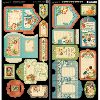 Graphic 45 CHILDREN'S HOUR Cardstock Tags And Pockets 4501254