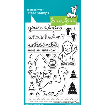 Lawn Fawn LOVABLE LEGENDS Clear Stamps LF1038