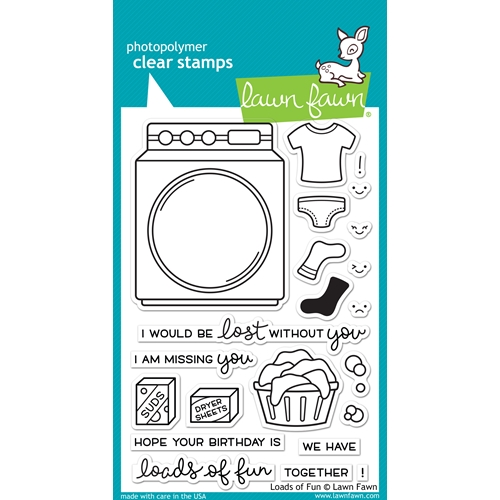 Lawn Fawn Loads of Fun Clear Stamp Set