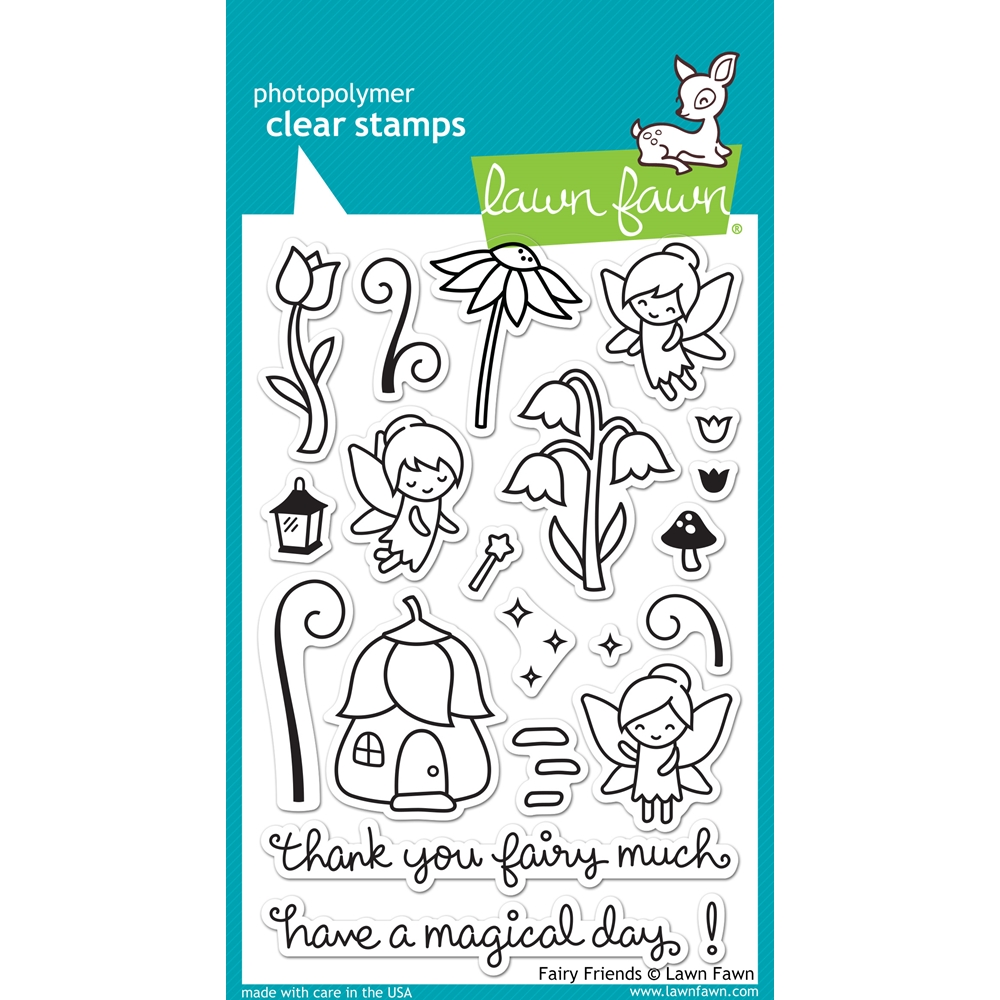 Lawn Fawn FAIRY FRIENDS Clear Stamps LF1057 zoom image