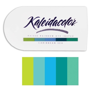Tsukineko Kaleidacolor CARIBBEAN SEA Raised Rainbow Dye Ink Pad 04011