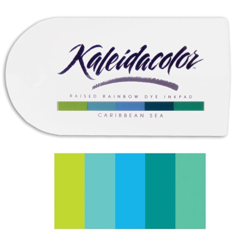 Tsukineko Kaleidacolor CARIBBEAN SEA Raised Rainbow Dye Ink Pad 04011 zoom image