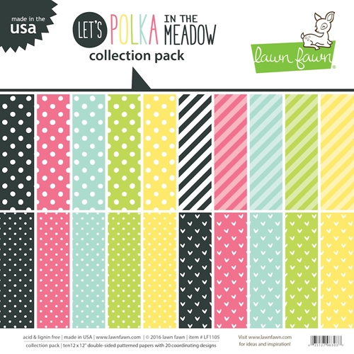 Lawn Fawn LET'S POLKA IN THE MEADOW 12 x 12 Collection Pack LF1105 Preview Image