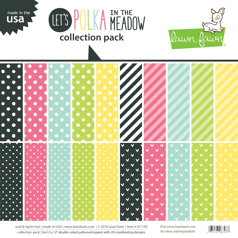 Lawn Fawn Polka In The Meadoe Paper Pack