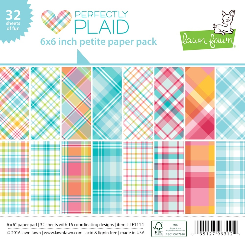 Lawn Fawn PERFECTLY PLAID Petite 6x6 Paper Pack LF1114 zoom image